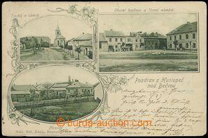 78339 - 1902 HUSTOPEČE NAD BEČVOU - 3-okénková koláž, pivovar,