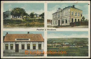 78362 - 1910 KOVALOVICE - 4-view, school, pub; Us, bumped corners