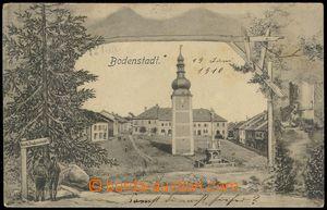 78363 - 1910 POTŠTÁT (Bodenstadt) - zvonice na náměstí, koláž