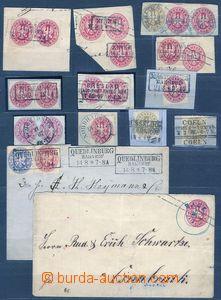 78381 - 1861 Mi.16-18, sestava 11ks výstřižků, dopisu a celiny M