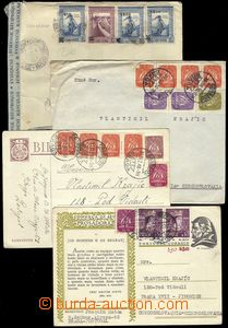 78390 - 1946-49 comp. 9 pcs of entires addressed to Czechoslovakia,