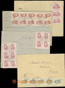 78410 - 1953 comp. 4 pcs of letters from Slovakia, usual frankings,
