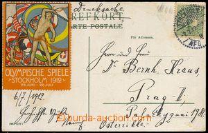 78421 - 1912 ŠVÉDSKO - LOH Stockholm 1912, pohlednice zaslaná do