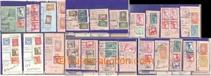 78466 - 1919-20 CROATIA  selection 30 pcs of cut-squares and cuts Hu