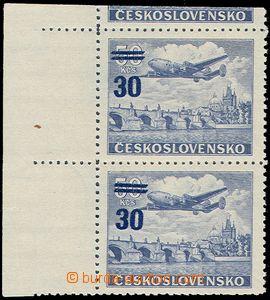 78472 - 1949 Pof.L32ST, Přetisková provizoria 30Kč, svislá 2-pá