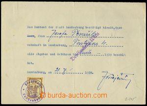 78473 - 1939 CZECHOSLOVAKIA 1918-39 / BŘECLAV  confirmation town of