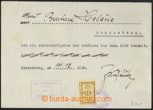 78479 - 1938 CZECHOSLOVAKIA 1918-39 / BŘECLAV  confirmation town of