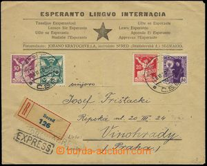 78486 - 1920 Registered and Express letter with Pof.145, 151,153 and