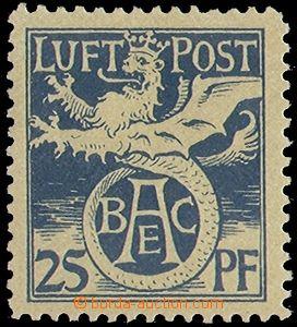 78500 - 1912 Mi. F I, letecká, poloúřední vydání, zbytek nále