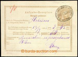78514 - 1874 certificate of mailing for telegram, Mi. TA2, German -