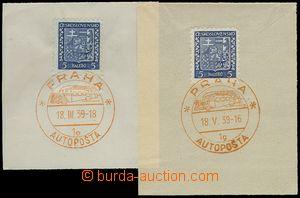 78558 - 1939 PRČ3, PRAGUE / MOBILE POST OFF. (BUS) 1e/ 18.III.39 +