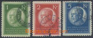 78570 - 1924 Mi.156-158, International Postal Congress, highest valu