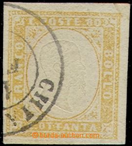 78571 - 1858 Mi.14 b, Král Viktor Emanuel II., kat. 350,00€, luxu