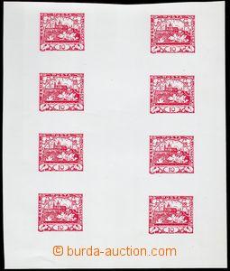 78574 -  ZT hodnoty 10h červená, soutisk 8ks známek, voskový pap