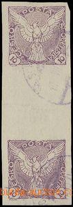 78578 - 1918 Pof.NV4Ms, Sokol v letu 10h fialová, svislé stejnosm�