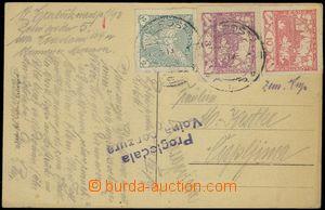 78580 - 1919 pohlednice odeslaná z Hodolan u Olomouce do Čapljiny