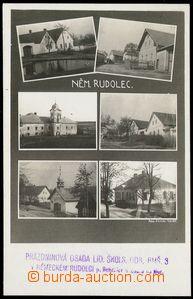 78620 - 1938 RUDOLEC - čb, 6-okénková,  prošlá s razítkem poš