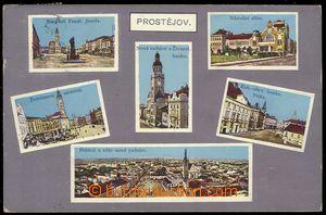 78621 - 1915 PROSTĚJOV - color, 6-views, view point town, used, cen