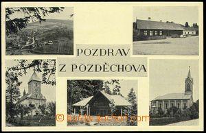 78622 - 1939 POZDĚCHOV - čb, 5-okénková, použitá v ČaM, dobř