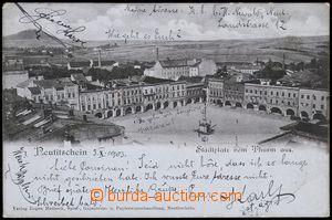 78625 - 1903 NOVÝ JIČÍN, náměstí, čb, DA, použitý, částe�