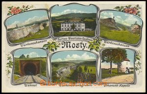 78627 - 1910? MOSTY U J. - color, 6-view collage; used, preserved