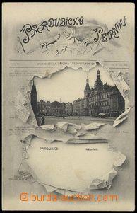 78636 - 1898? PARDUBICE - square,  B/W, collage newspaper Pardubice