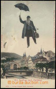 78644 - 1900? KARLOVY VARY (Karlsbad) - kolorovaná koláž muž s d