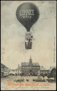 78645 - 1904 LOMNICE N. P. - colored collage balloon over the town,