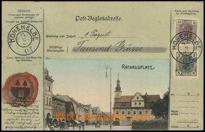 78647 - 1908 VRCHLABÍ (Hohenelbe) - náměstí, kolorovaná koláž