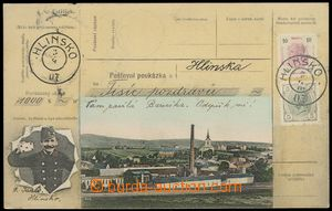 78649 - 1907 HLINSKO, part town with factory, colored collage Postal