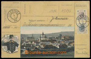 78652 - 1907 JILEMNICE - view of view point, colored collage Postal