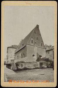 78655 - 1895 JUDAICA  Prague, Old New synagogue, photo back part/-s