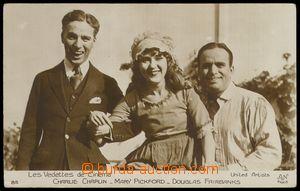 78660 - 1930? CHAPLIN, PICKFORD, FAIRBANKS, američtí herci na spol