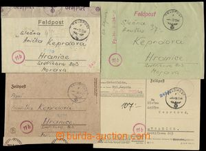 78667 - 1944-45 4 pcs of various entires from member of Protectorate