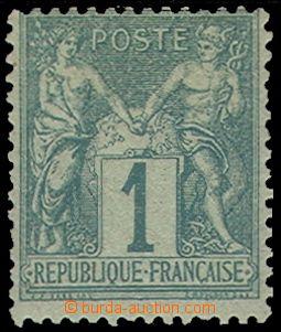 78676 - 1876 Mi.56 I, Alegorie 1 C zelená, kat. 170€