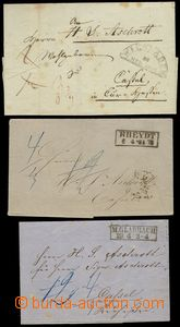 78679 - 1857-59 PRE-PHILATELY  comp. 3 pcs of letters with postmarks