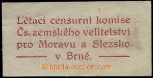 78696 - 1920 CENSORSHIP  label with text Flying censor's committee C