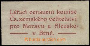 78696 - 1920 CENZURA  nálepka s textem Létací censurní komise Č