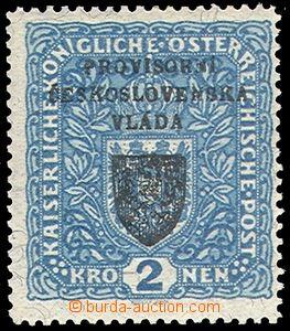 78698 - 1918 Pof.RV16a, Prague overprint I., Coat of arms 2 Koruna,