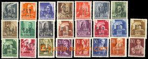 78701 - 1944 Khust overprint ČSP*1944*, selection of 23 pcs of, mis