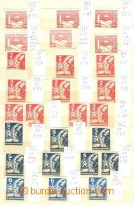 78702 - 1945 Pof.353-359, Košice-issue, selection of 51 pcs of, det