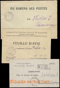 78732 - 1935-50 EVROPA  3ks dopisů mezi poštovními úřady, porta