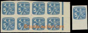 78733 - 1945 Pof.NV23, Listonoš, 8-blok s pravým okrajem z dotisku