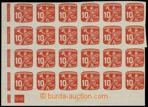 78735 - 1945 Pof.NV24, Listonoš 10h červená, levý dolní 24-blok