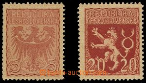 78765 - 1919 2 pcs of refused stamp design, yellowish paper with gum