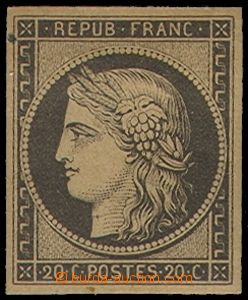 78824 - 1849 Mi.3y, Ceres 20C black, yellowish paper, c.v.. 350€