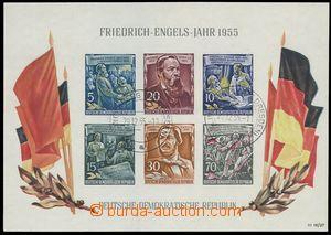 78873 - 1955 Mi.Bl.13, aršík F. Engels, 2x DR Klingenberg (Bz. Dre