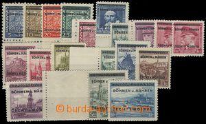 78944 -  Pof.1-19, Overprint issue, c.v.. 1100CZK