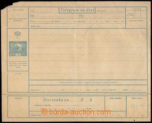 78947 - 1919 CTÚ1APa, telegram nepoužitý, svisle uprostřed přel