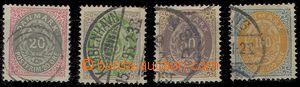 78960 - 1875 Mi.28-31 I Y A, Číslice v rámečku, normální ráme